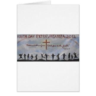 ¡Celebración de nuestro día de la juventud! Tarjetas