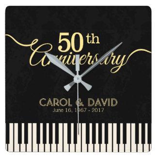 Celebración del 50.o aniversario. Adaptable Reloj Cuadrado