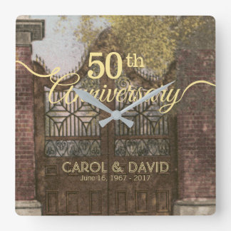 Celebración del 50.o aniversario. Vintage Reloj Cuadrado
