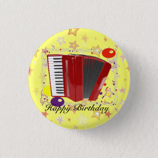 Celebración del acordeón chapa redonda de 2,5 cm