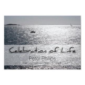 Celebración del barco de mar de la invitación del