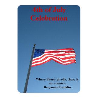 Celebración del Día de la Independencia Invitación 12,7 X 17,8 Cm