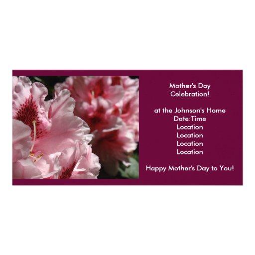 ¡Celebración del día de madre! La invitación invit Tarjetas Con Fotos Personalizadas