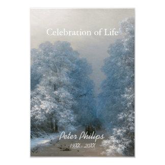 Celebración del invierno de la vida 2 - invitación invitación 8,9 x 12,7 cm