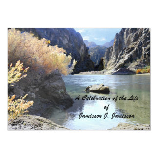 Celebración del paisaje hermoso de la invitación