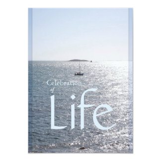 Celebración del paisaje marino de la vida 1 invitación 11,4 x 15,8 cm