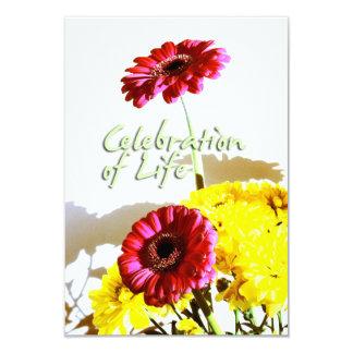 Celebración del ramo de la primavera del monumento invitación 8,9 x 12,7 cm