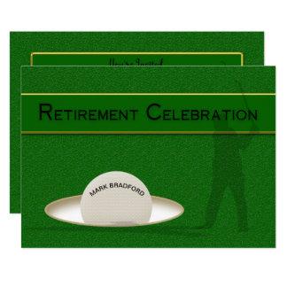 Celebración del retiro para el golfista - pelota invitación 12,7 x 17,8 cm