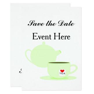 Celebración del té invitación 12,7 x 17,8 cm