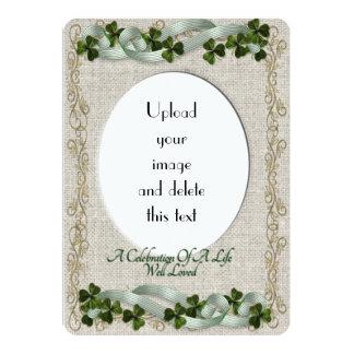 Celebración del tema del irlandés de la invitación