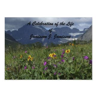 Celebración del Wildflower de la montaña de la Invitación 12,7 X 17,8 Cm