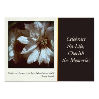 Celebración floral de la fotografía 3 del Clematis Invitación 12,7 X 17,8 Cm