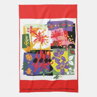 Celebración floral - toalla de cocina