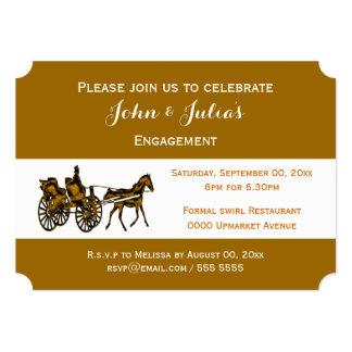 Celebración formal del carro del caballo anuncio personalizado