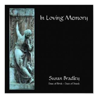 Celebración funeraria del arte 2 de la memoria invitación 13,3 cm x 13,3cm