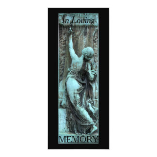 Celebración funeraria del arte 3 de la memoria invitación 10,1 x 23,5 cm