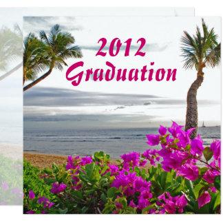 Celebración hawaiana de la graduación 20XX Invitación 13,3 Cm X 13,3cm
