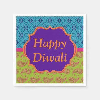 Celebración india colorida de Diwali del diseño Servilletas Desechables