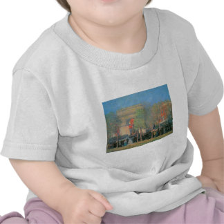 Celebración Italo-Americana cuadrado de Washingto Camiseta