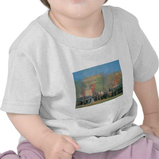 Celebración Italo-Americana, cuadrado de Washingto Camiseta