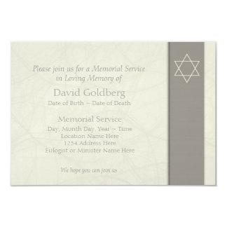 Celebración judía simple de la invitación 1 de la