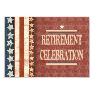 Celebración militar patriótica del retiro del invitación 12,7 x 17,8 cm