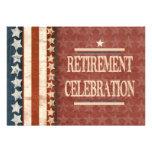 Celebración militar patriótica del retiro del vete anuncios personalizados