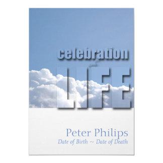 Celebración moderna del cielo pacífico de la invitación 12,7 x 17,8 cm