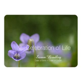 Celebración salvaje de las violetas de la invitación 12,7 x 17,8 cm