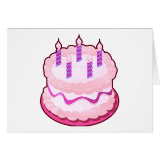 Celebraciones rosadas del dulce de la TORTA Tarjeton