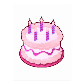 Celebraciones rosadas del dulce de la TORTA Postales