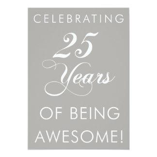 Celebrando 25 años de ser impresionantes invitan invitación 12,7 x 17,8 cm