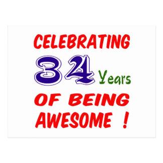 ¡Celebrando 34 años de ser impresionante! Postal