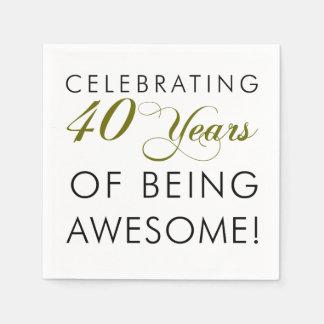 Celebrando 40 años de ser impresionante servilletas desechables