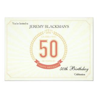 Celebrando 50 años de invitación del cumpleaños