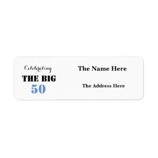 Celebrando 50 el cumpleaños GRANDE - remite Etiqueta De Remite