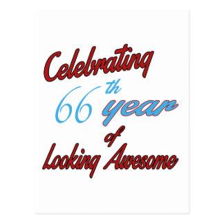 Celebrando 66 años de mirada de impresionante tarjetas postales