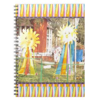 celebrati de los festivales de las decoraciones de cuaderno