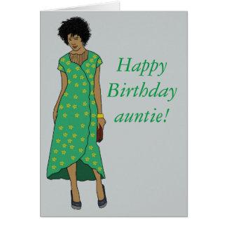 Celebre a la tía tarjeta de felicitación