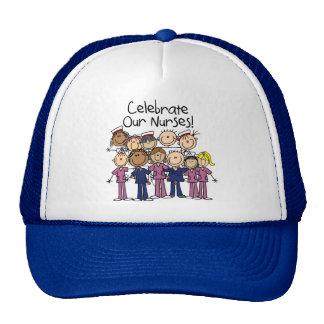 Celebre a nuestras enfermeras gorras