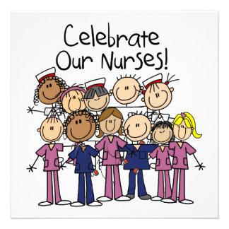 Celebre a nuestras enfermeras invitaciones personales