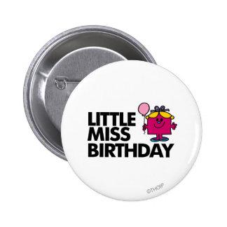 Celebre a pequeña Srta. Birthday Chapa Redonda 5 Cm