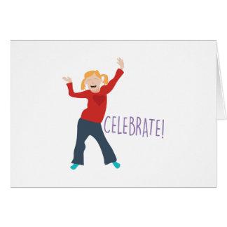 Celebre al chica tarjeta de felicitación