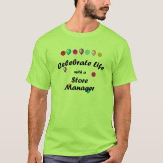 Celebre al encargado de tienda camiseta