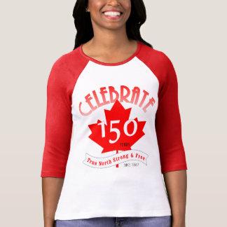 Celebre Canadá 150 años Camiseta