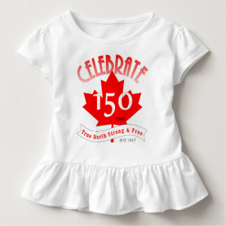 Celebre Canadá 150 años Camiseta De Bebé