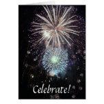 ¡Celebre con los fuegos artificiales! Felicitaciones