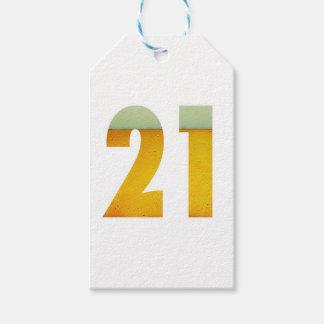 Celebre el 21ro cumpleaños etiquetas para regalos