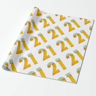 Celebre el 21ro cumpleaños papel de regalo