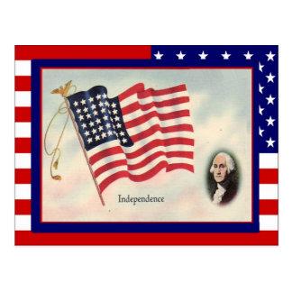 Celebre el 4 de julio tarjeta postal